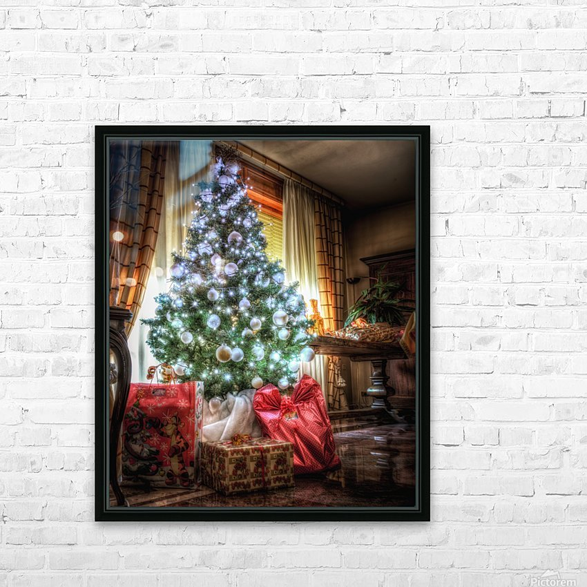Christmas Tree HD Sublimation Metal print with Decorating Float Frame (BOX)