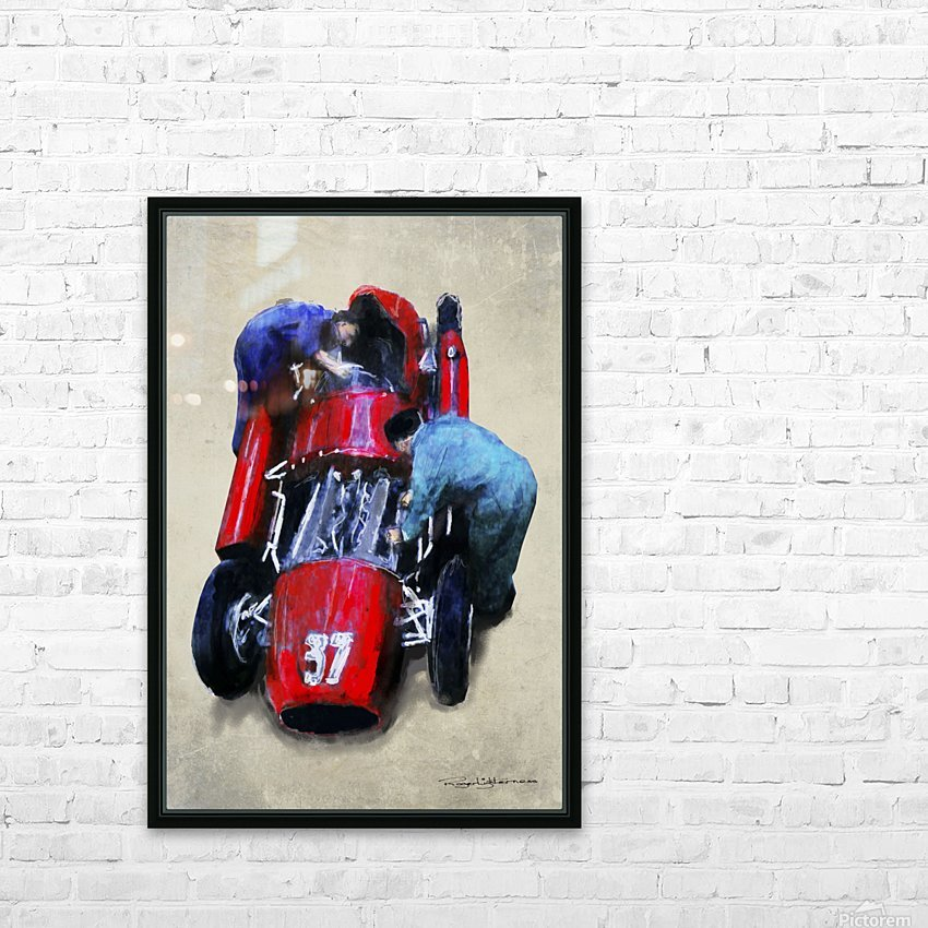 Lancia D50 1955 HD Sublimation Metal print with Decorating Float Frame (BOX)