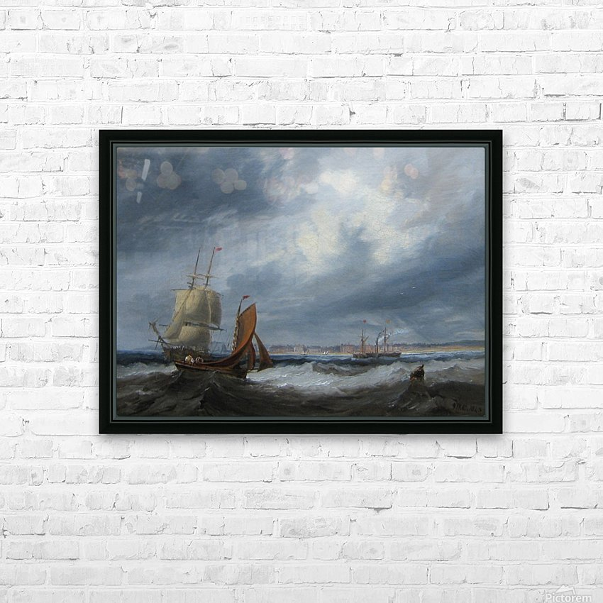 Shipping off Seaham HD Sublimation Metal print with Decorating Float Frame (BOX)