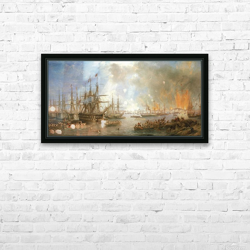 The Bombardment of Sveaborg HD Sublimation Metal print with Decorating Float Frame (BOX)