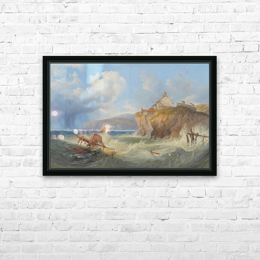 Landscape with a house by the sea HD Sublimation Metal print with Decorating Float Frame (BOX)
