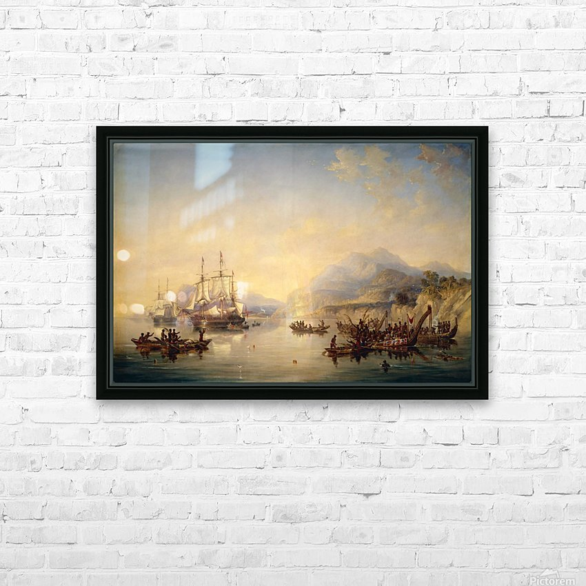 Erebus' and the 'Terror' in New Zealand HD Sublimation Metal print with Decorating Float Frame (BOX)