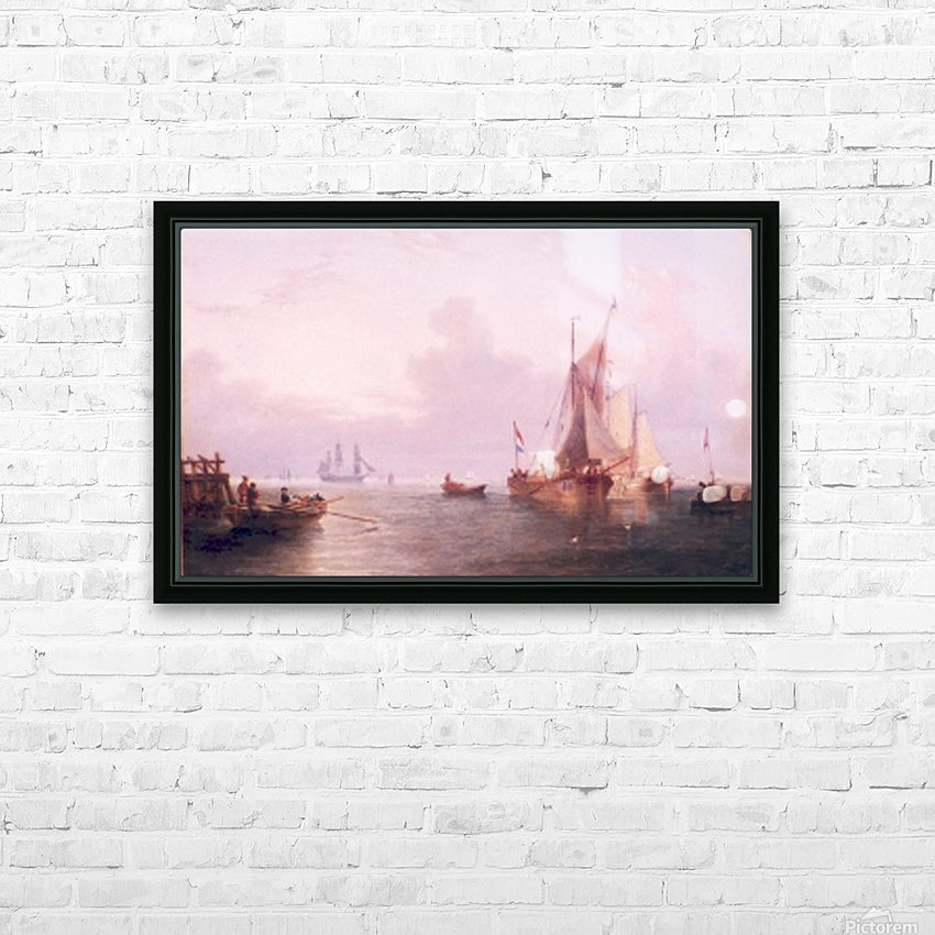 Shipping off a Dutch Port HD Sublimation Metal print with Decorating Float Frame (BOX)
