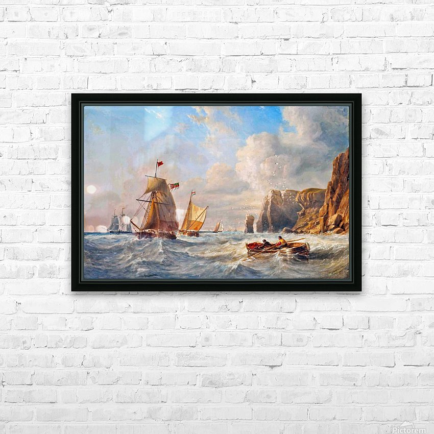 A Breezy Day off Flamborough Head HD Sublimation Metal print with Decorating Float Frame (BOX)