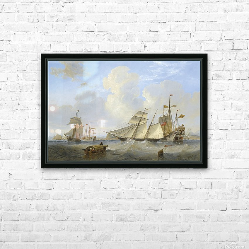 Lots of boats by the sea HD Sublimation Metal print with Decorating Float Frame (BOX)