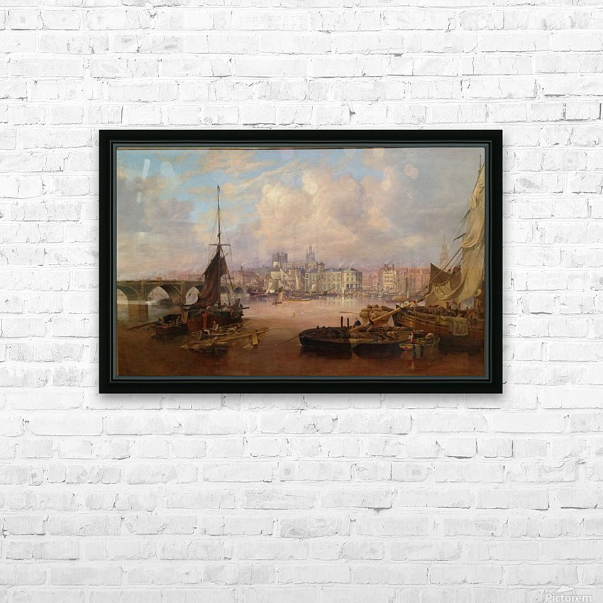 The Mayors Barge on The Tyne HD Sublimation Metal print with Decorating Float Frame (BOX)