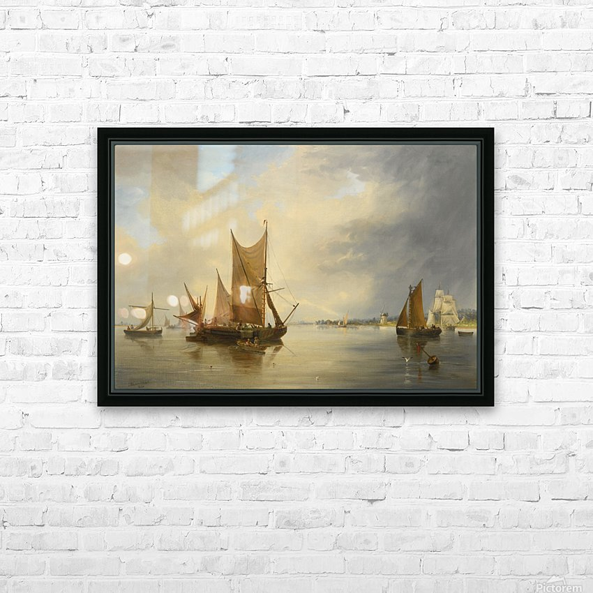 Sailing on the sea HD Sublimation Metal print with Decorating Float Frame (BOX)