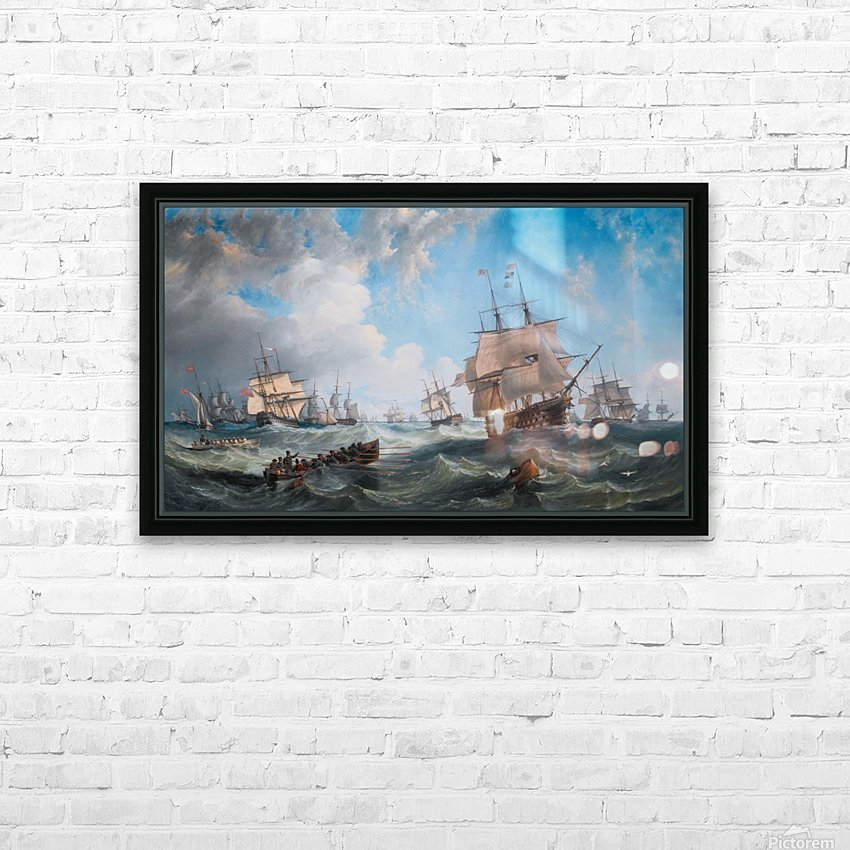 The Channel fleet in heavy weather HD Sublimation Metal print with Decorating Float Frame (BOX)