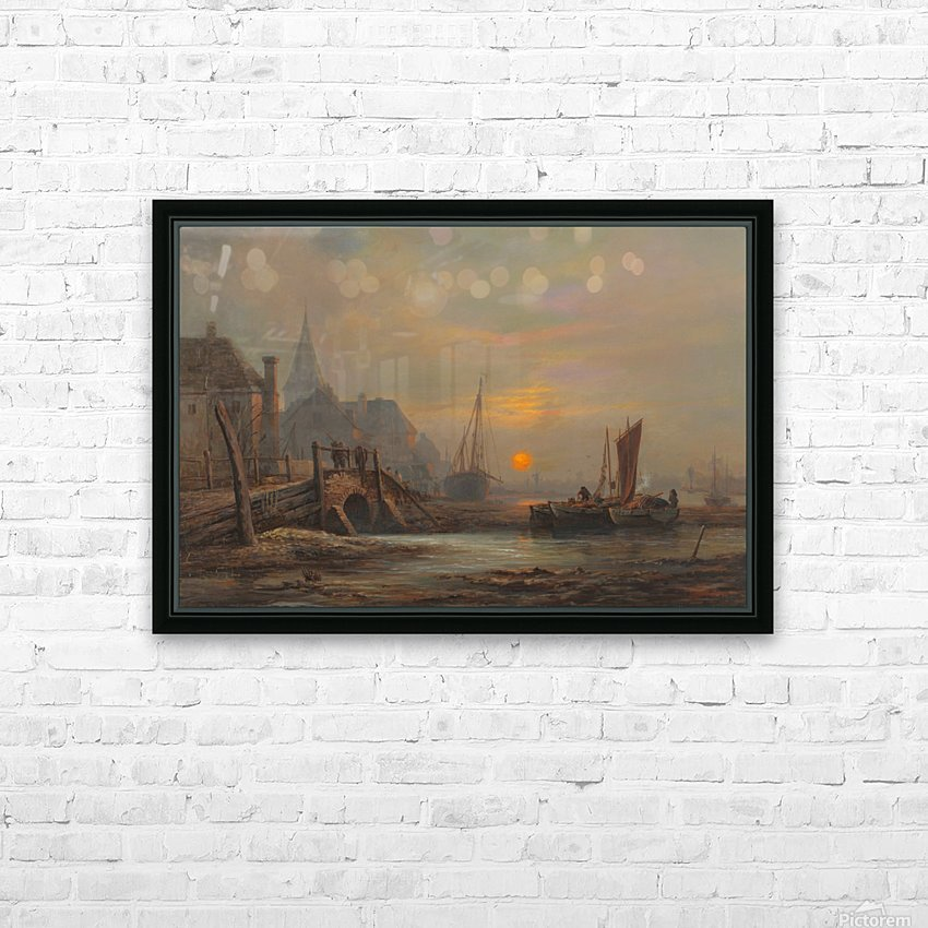 Preparation of fishing boats, Low Countries HD Sublimation Metal print with Decorating Float Frame (BOX)