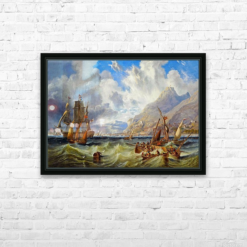 Sailing to Gibraltar HD Sublimation Metal print with Decorating Float Frame (BOX)