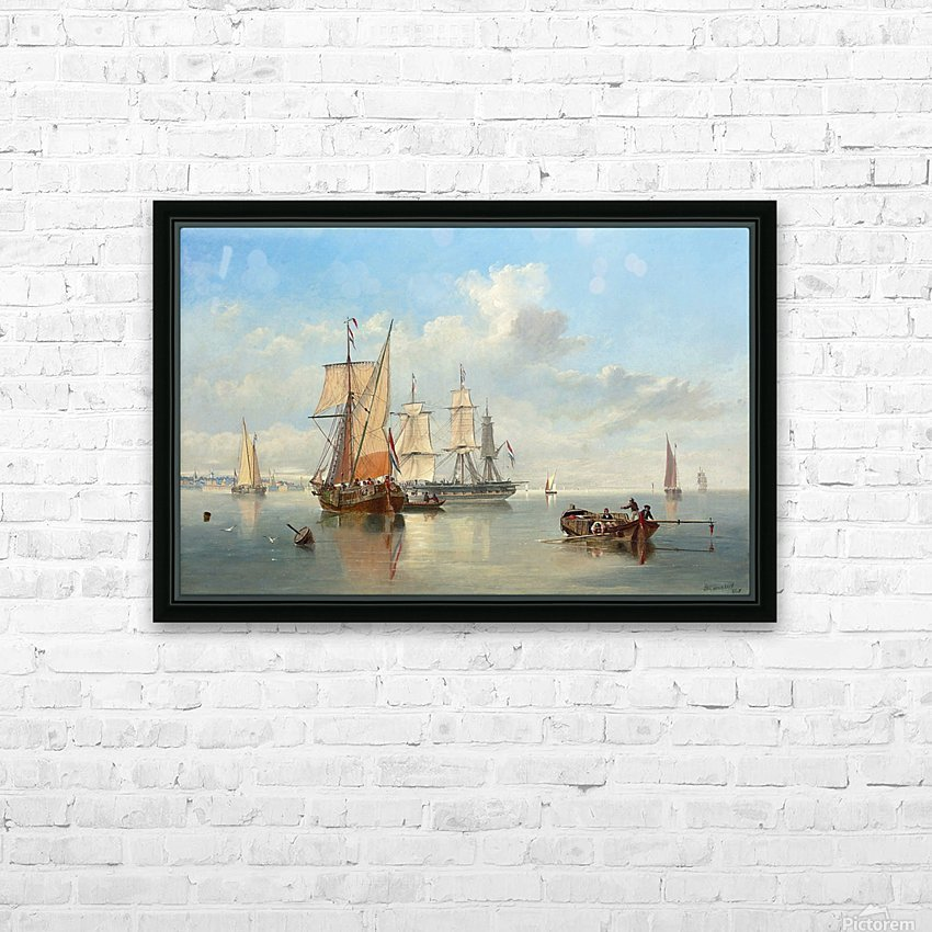 Shipping in a Flat Calm off the Dutch coast HD Sublimation Metal print with Decorating Float Frame (BOX)