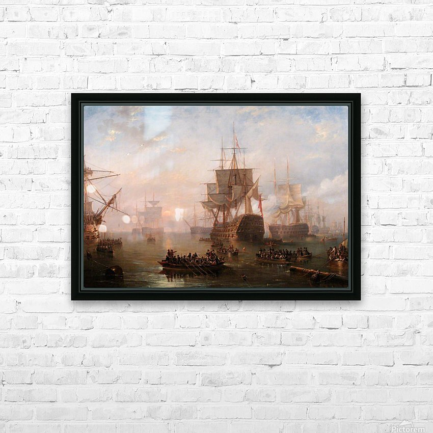 Anchored off the Isle of Wight HD Sublimation Metal print with Decorating Float Frame (BOX)