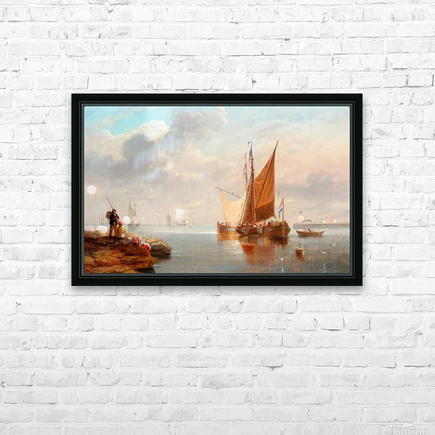 Dutch Fishing Boats HD Sublimation Metal print with Decorating Float Frame (BOX)