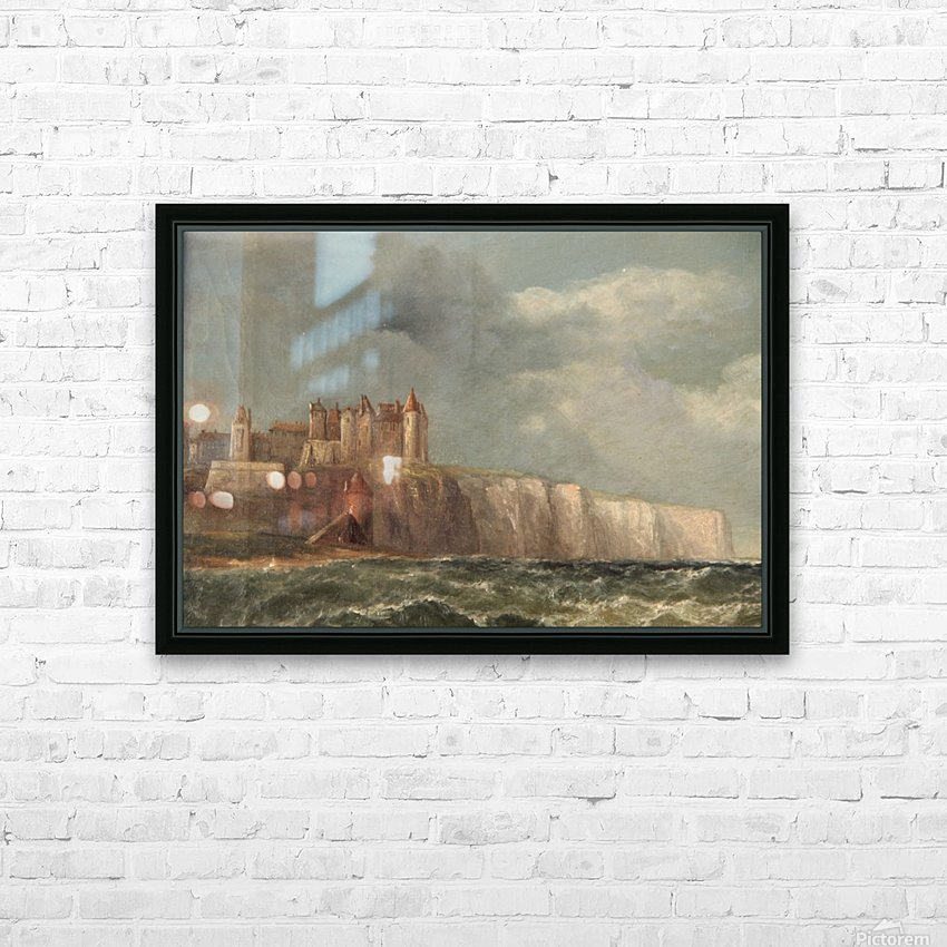 A castle on a clif HD Sublimation Metal print with Decorating Float Frame (BOX)