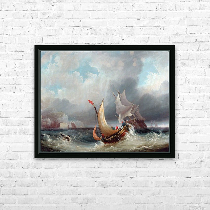 Shipping Offshore in a Stormy Sea HD Sublimation Metal print with Decorating Float Frame (BOX)