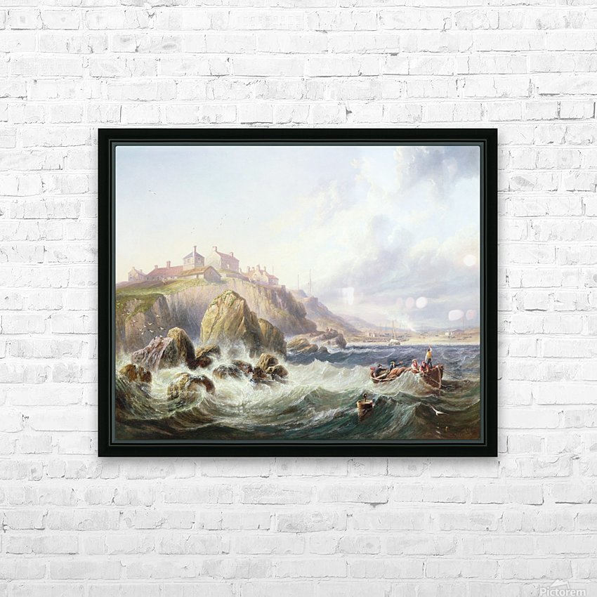 Fishing boats off Scotland HD Sublimation Metal print with Decorating Float Frame (BOX)