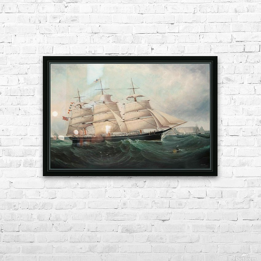 A large boat by the sea HD Sublimation Metal print with Decorating Float Frame (BOX)