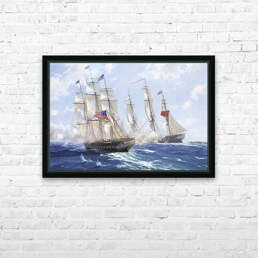 American boats by the sea HD Sublimation Metal print with Decorating Float Frame (BOX)