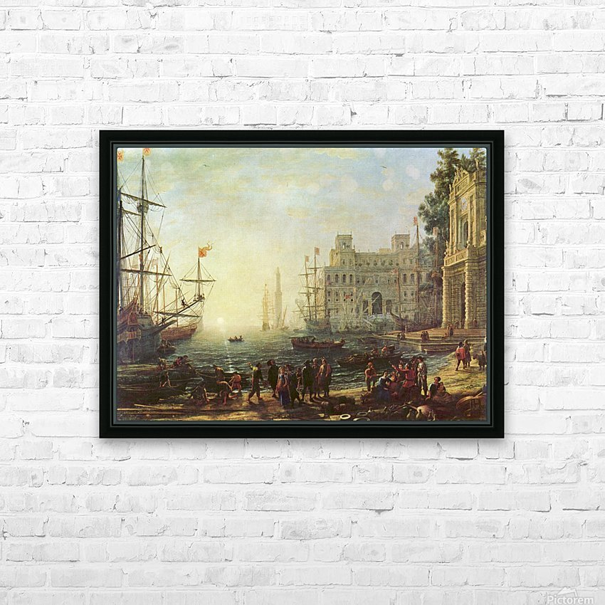 Seaport with the Villa Medici HD Sublimation Metal print with Decorating Float Frame (BOX)