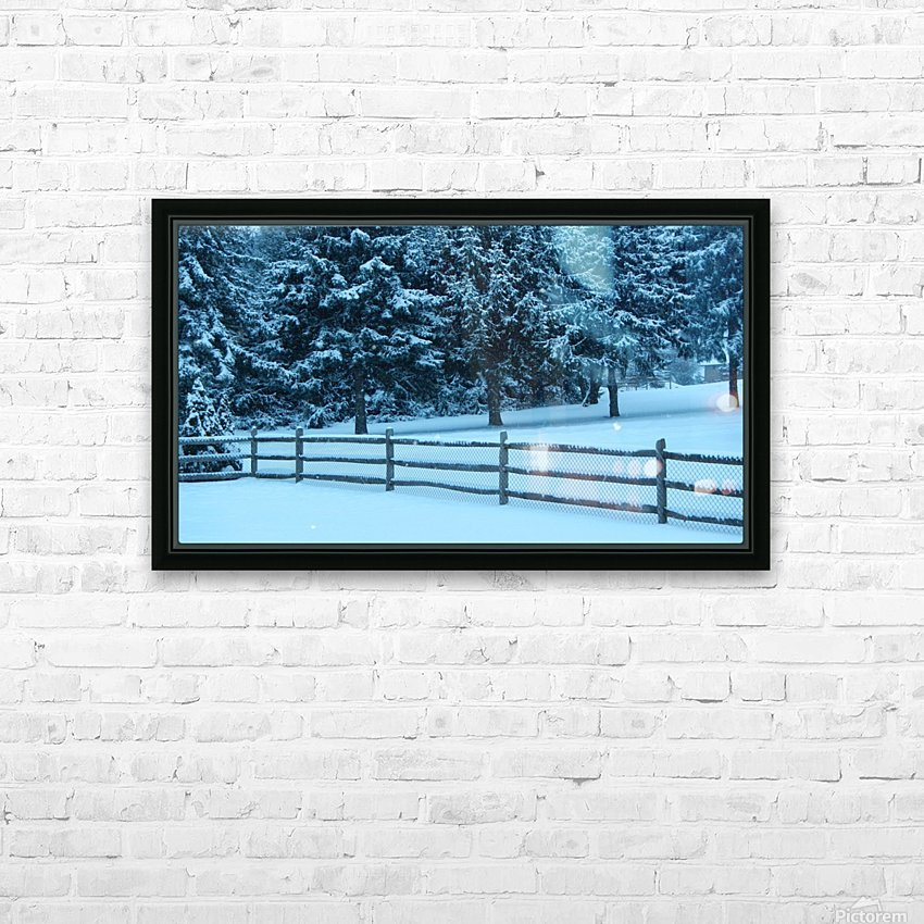 Winter Snow HD Sublimation Metal print with Decorating Float Frame (BOX)