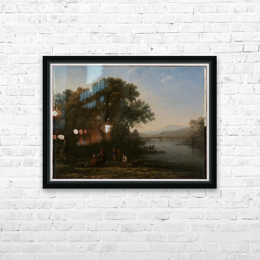A few people in a lagoon HD Sublimation Metal print with Decorating Float Frame (BOX)