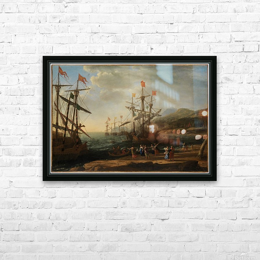 The Trojan Women Setting Fire to Their Fleet HD Sublimation Metal print with Decorating Float Frame (BOX)