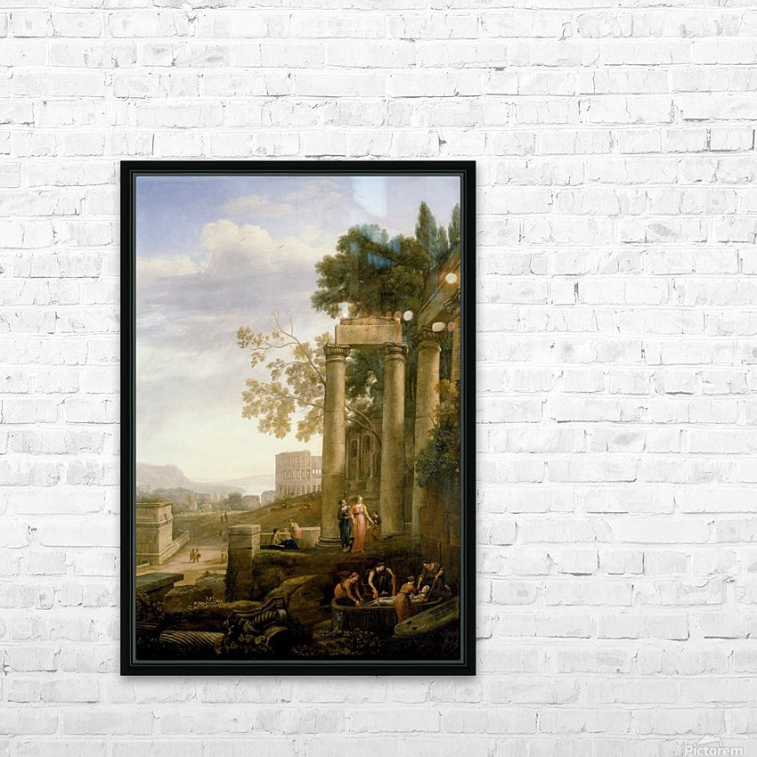 Landscape with Burial of St. Serapia HD Sublimation Metal print with Decorating Float Frame (BOX)
