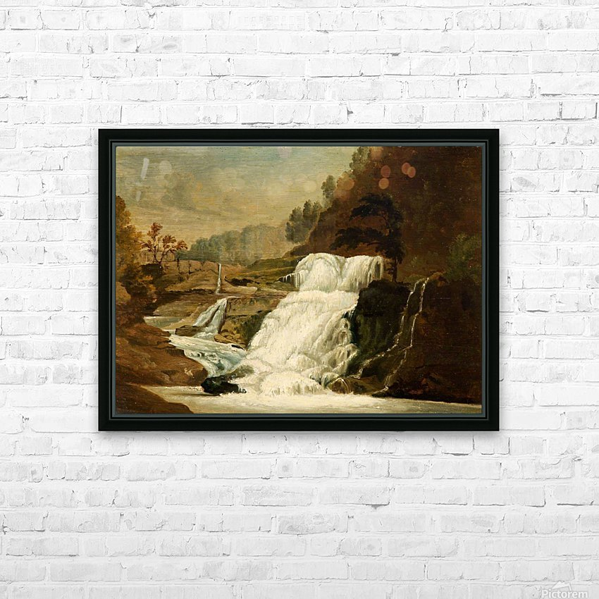 Waterfall in the Neath Valley HD Sublimation Metal print with Decorating Float Frame (BOX)