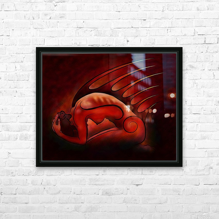 Hessanisa V1 - the martian lady HD Sublimation Metal print with Decorating Float Frame (BOX)