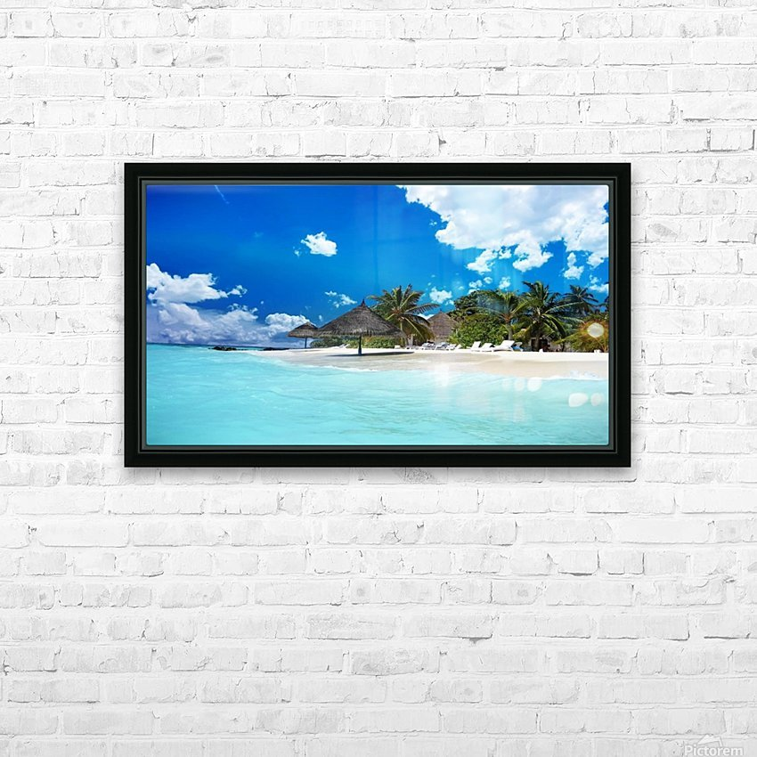 beach HD Sublimation Metal print with Decorating Float Frame (BOX)