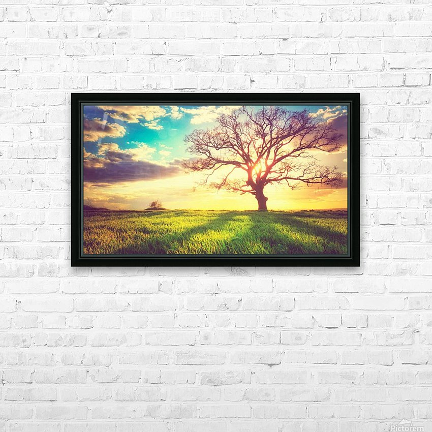 nature 05 HD Sublimation Metal print with Decorating Float Frame (BOX)