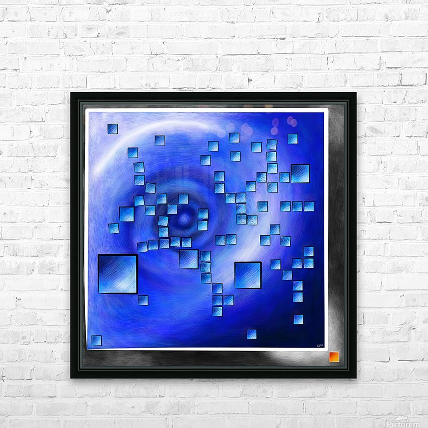 Nepheros V1 - planet square HD Sublimation Metal print with Decorating Float Frame (BOX)