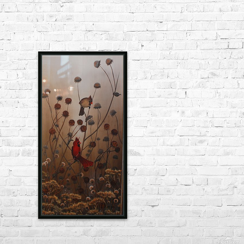 Cardinals HD Sublimation Metal print with Decorating Float Frame (BOX)