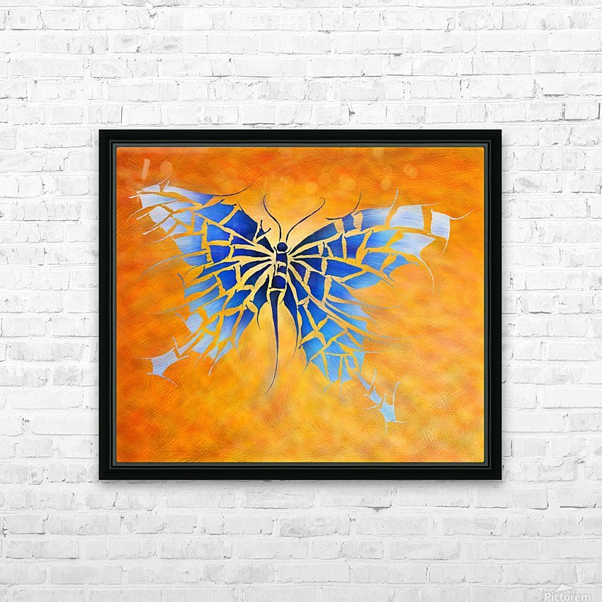 Tropenillo V1 - the blue butterfly HD Sublimation Metal print with Decorating Float Frame (BOX)