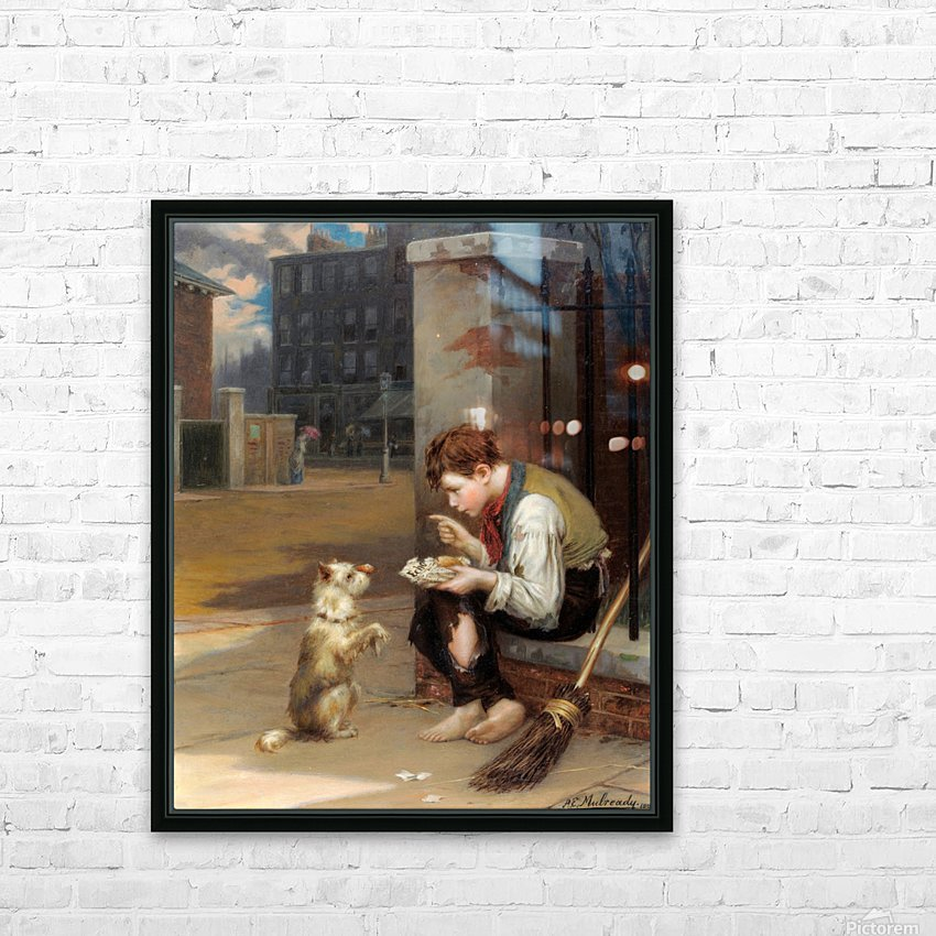 Training a small dog HD Sublimation Metal print with Decorating Float Frame (BOX)