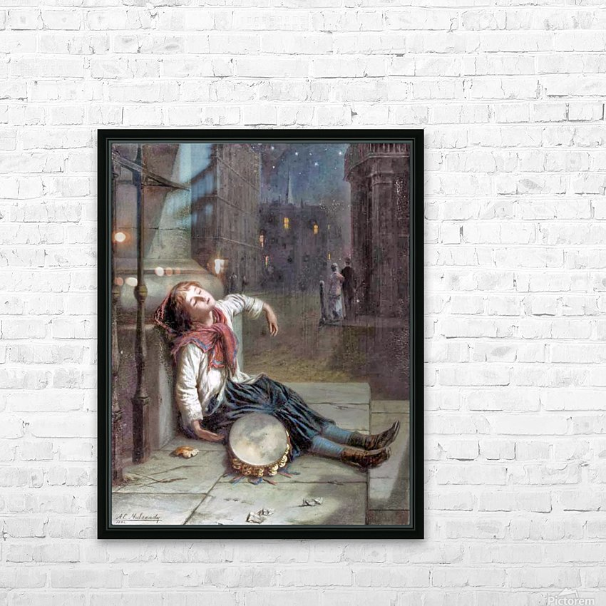 A child sleeping in the moonlight HD Sublimation Metal print with Decorating Float Frame (BOX)