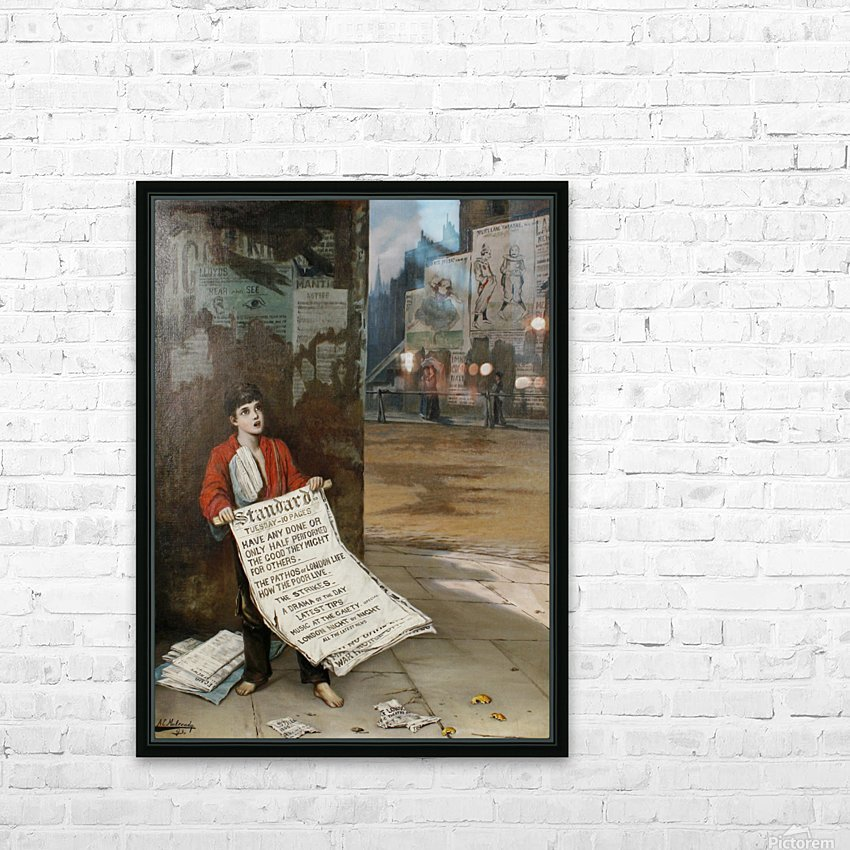 A London Newsboy 1893 HD Sublimation Metal print with Decorating Float Frame (BOX)