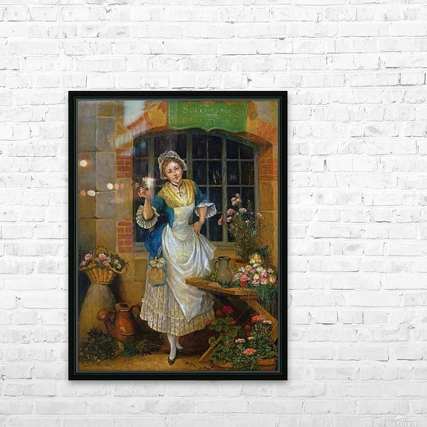 A young florist HD Sublimation Metal print with Decorating Float Frame (BOX)