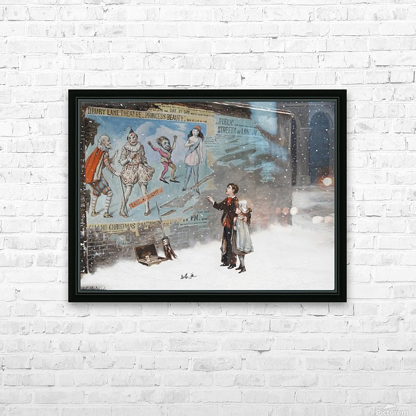 Watching a theatre poster HD Sublimation Metal print with Decorating Float Frame (BOX)