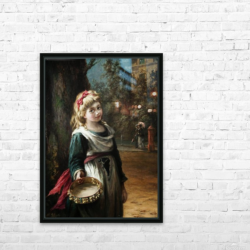 A young blonde girl HD Sublimation Metal print with Decorating Float Frame (BOX)