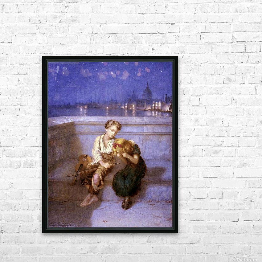 Comforitng a crying girl HD Sublimation Metal print with Decorating Float Frame (BOX)