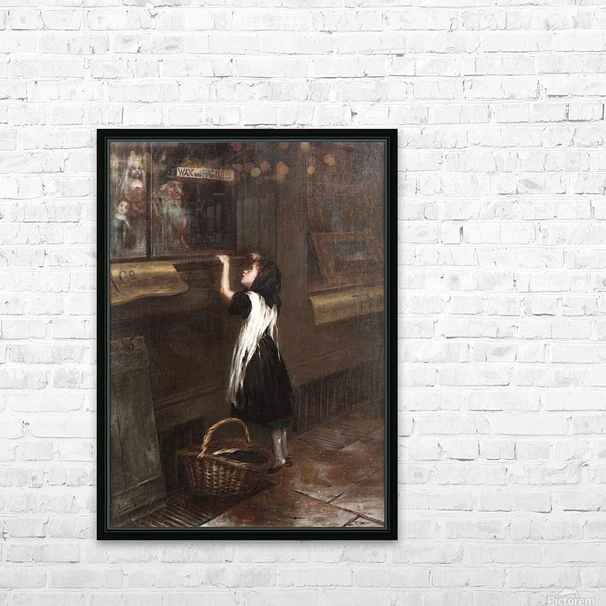 A girl in a black dress HD Sublimation Metal print with Decorating Float Frame (BOX)