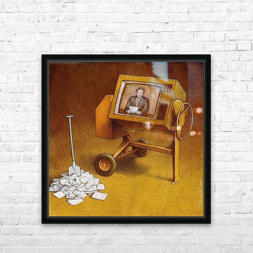 concrete mixer ( propaganda ) HD Sublimation Metal print with Decorating Float Frame (BOX)