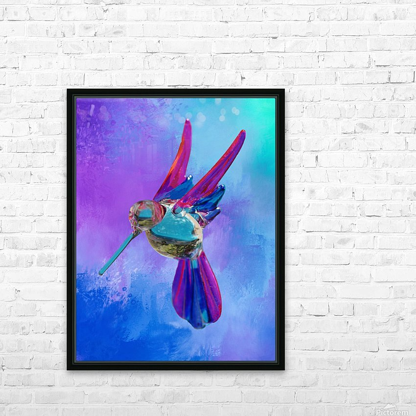 Glass Bird Abstract  HD Sublimation Metal print with Decorating Float Frame (BOX)