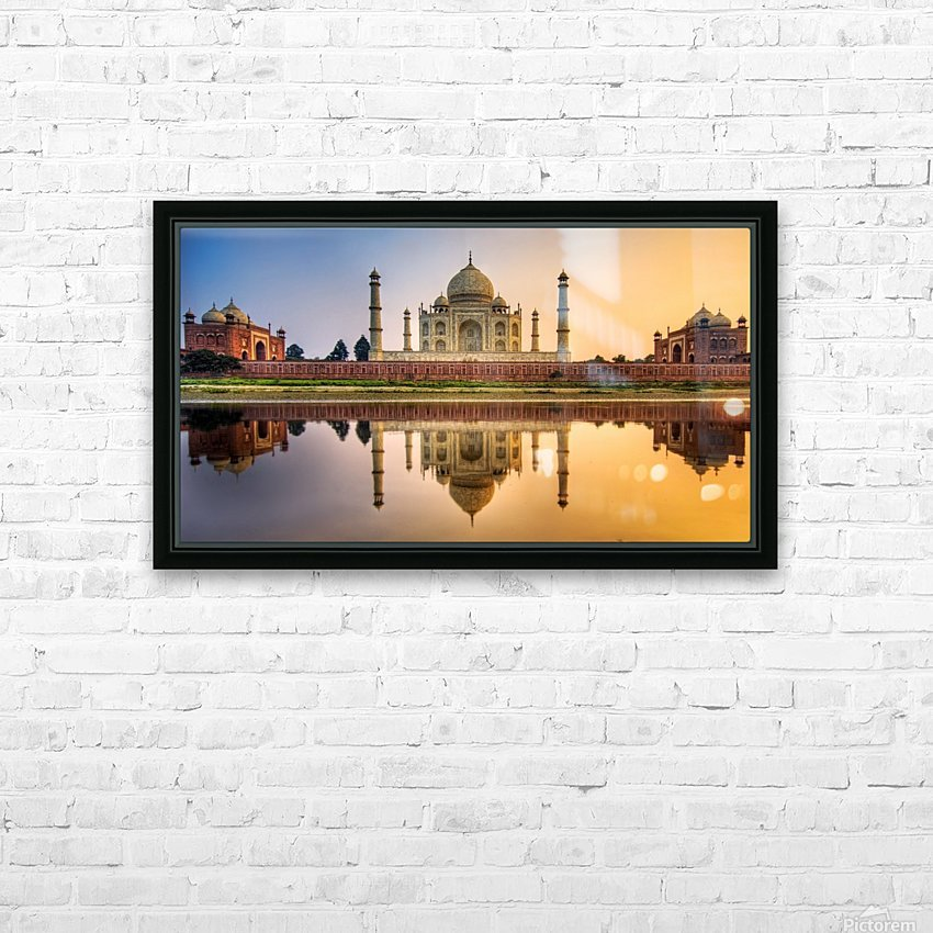Visit India HD Sublimation Metal print with Decorating Float Frame (BOX)