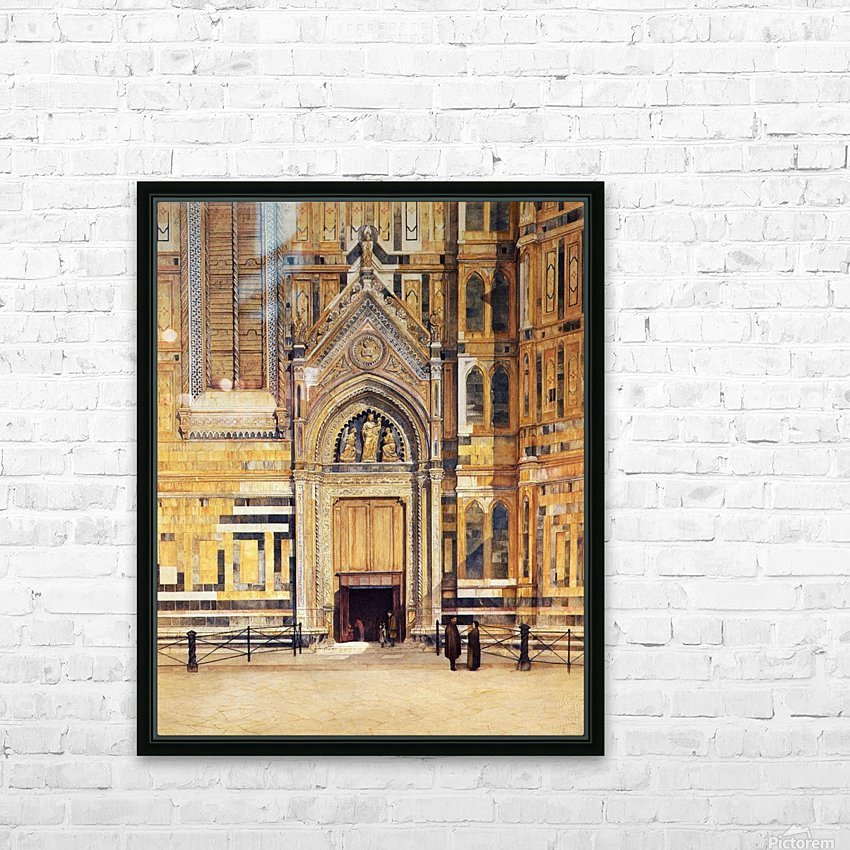 The South Door of the Duomo 1881 HD Sublimation Metal print with Decorating Float Frame (BOX)