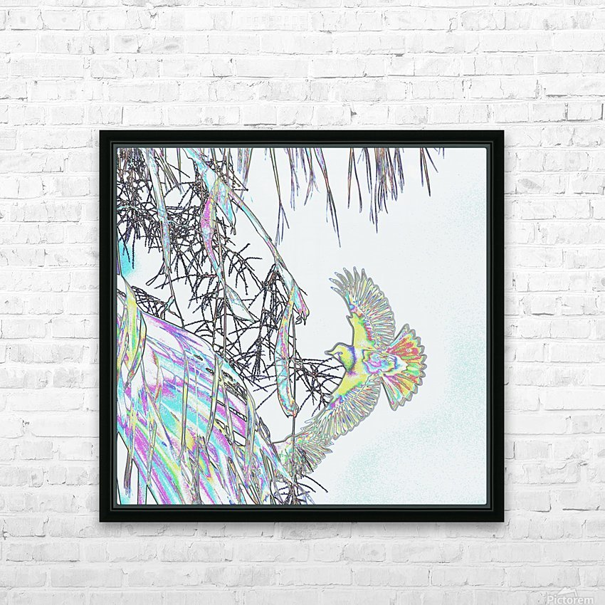 Orioles Abstract 3   HD Sublimation Metal print with Decorating Float Frame (BOX)