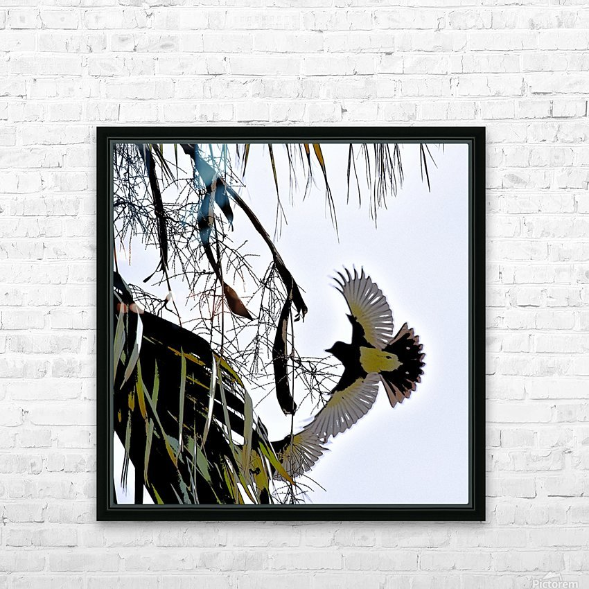 Orioles Abstract 1  HD Sublimation Metal print with Decorating Float Frame (BOX)