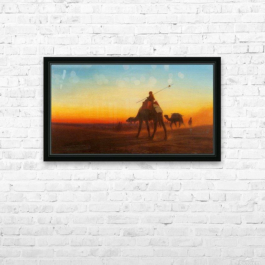 Caravanne au Couche-Sol HD Sublimation Metal print with Decorating Float Frame (BOX)