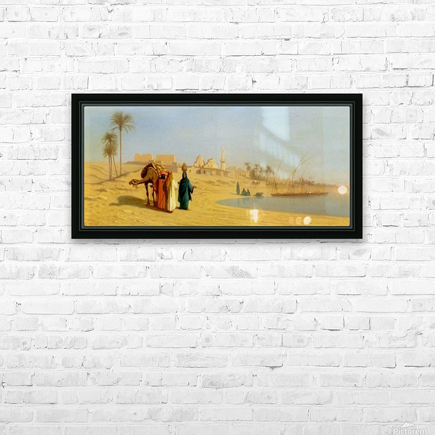 The Banks of the Nile HD Sublimation Metal print with Decorating Float Frame (BOX)